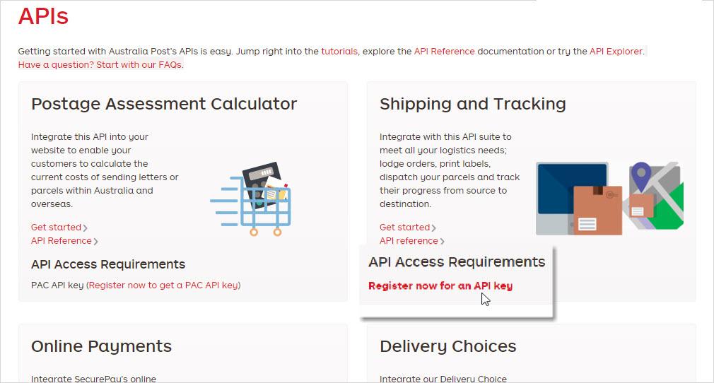 Generate Australia Post/StarTrack API key and secret – StarShipIT